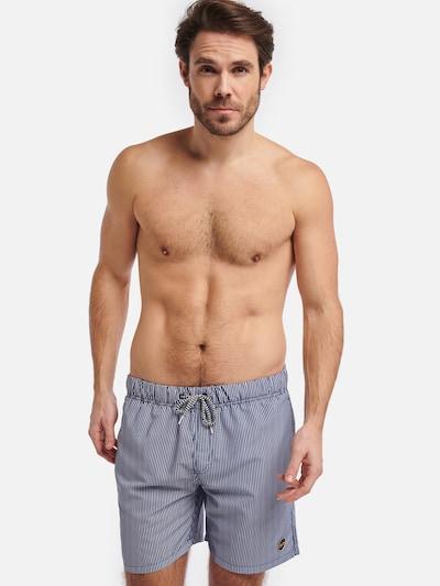 Shiwi Badehose 'Skinny stripe' in dunkelblau: Frontalansicht