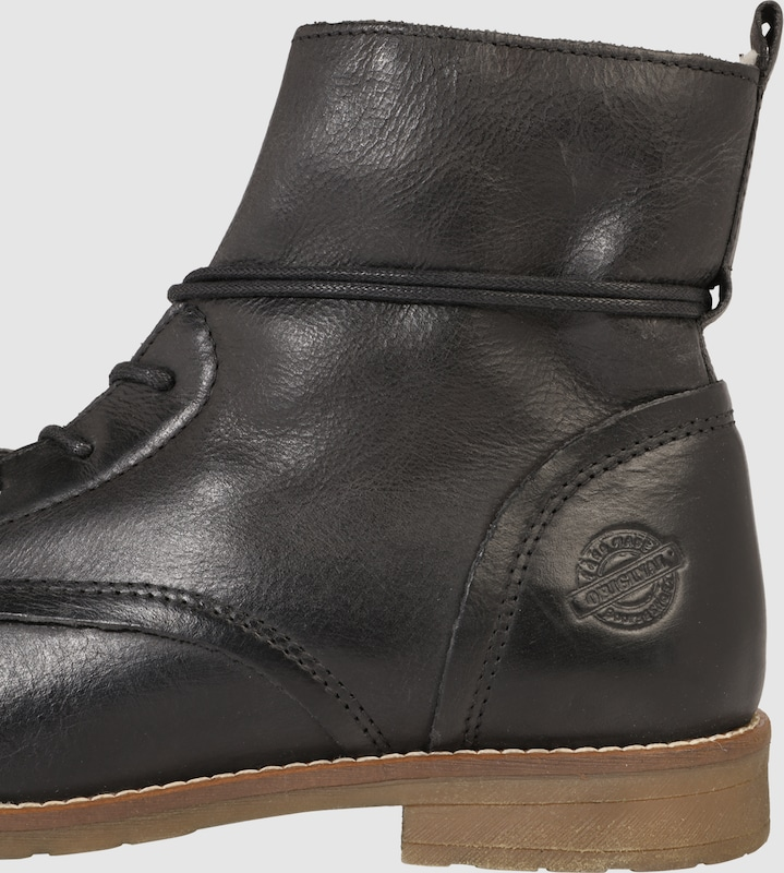 Pier One | Leder-Schnürstiefel Teddy-Futter mit Teddy-Futter Leder-Schnürstiefel Schuhe Gut getragene Schuhe c3fc52