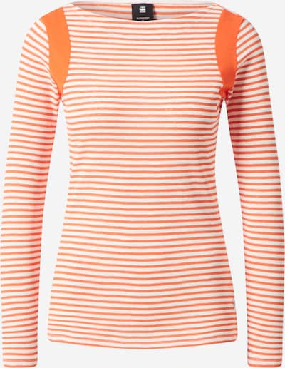 G-Star RAW Tričko - oranžová / bílá, Produkt