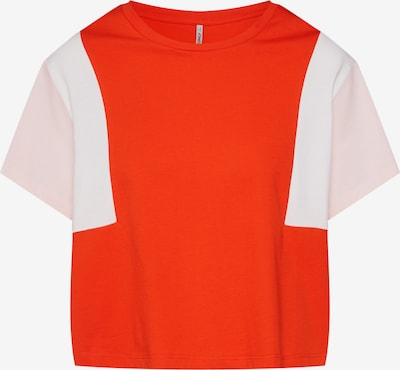 ONLY Shirt 'Team' in orange / altrosa / weiß, Produktansicht