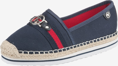 TOM TAILOR Espadrille in navy / rot, Produktansicht