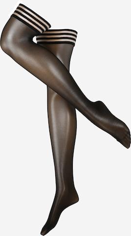 juoda Swedish Stockings Kojinaitės virš kelių 'Mira Premium Stay Ups Black'