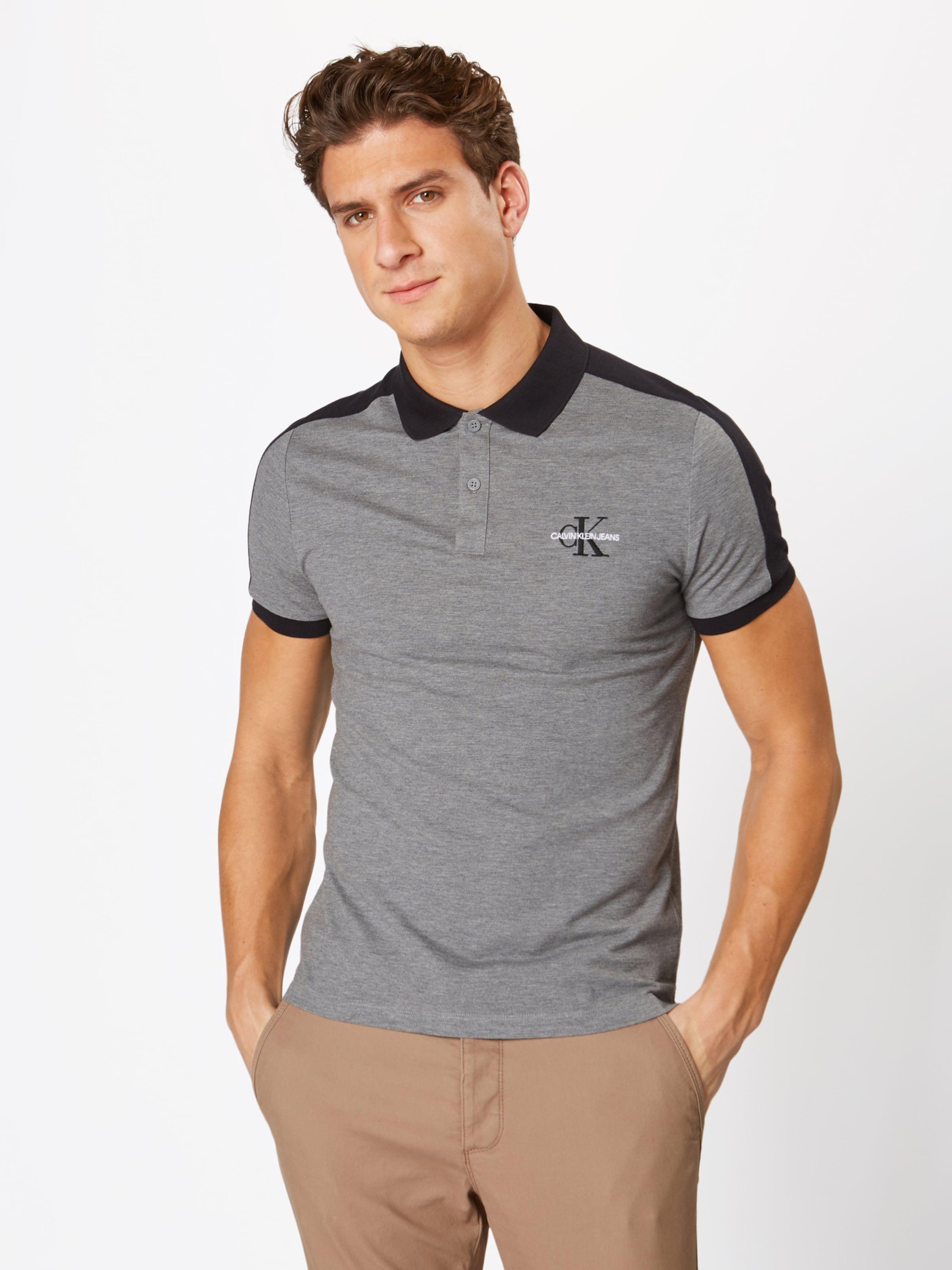 Detail GrauSchwarz Calvin Block Polo16' Klein Slim Jeans In Poloshirt 'color 0PmNwyv8nO