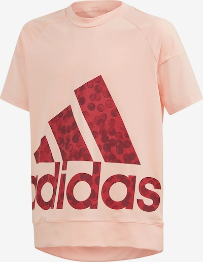 ADIDAS PERFORMANCE Shirt 'Youth Girl' in apricot / dunkelrot, Produktansicht