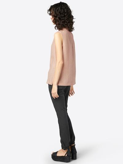 OPUS Bluse 'Feeli' in rosé / weiß: Rückansicht