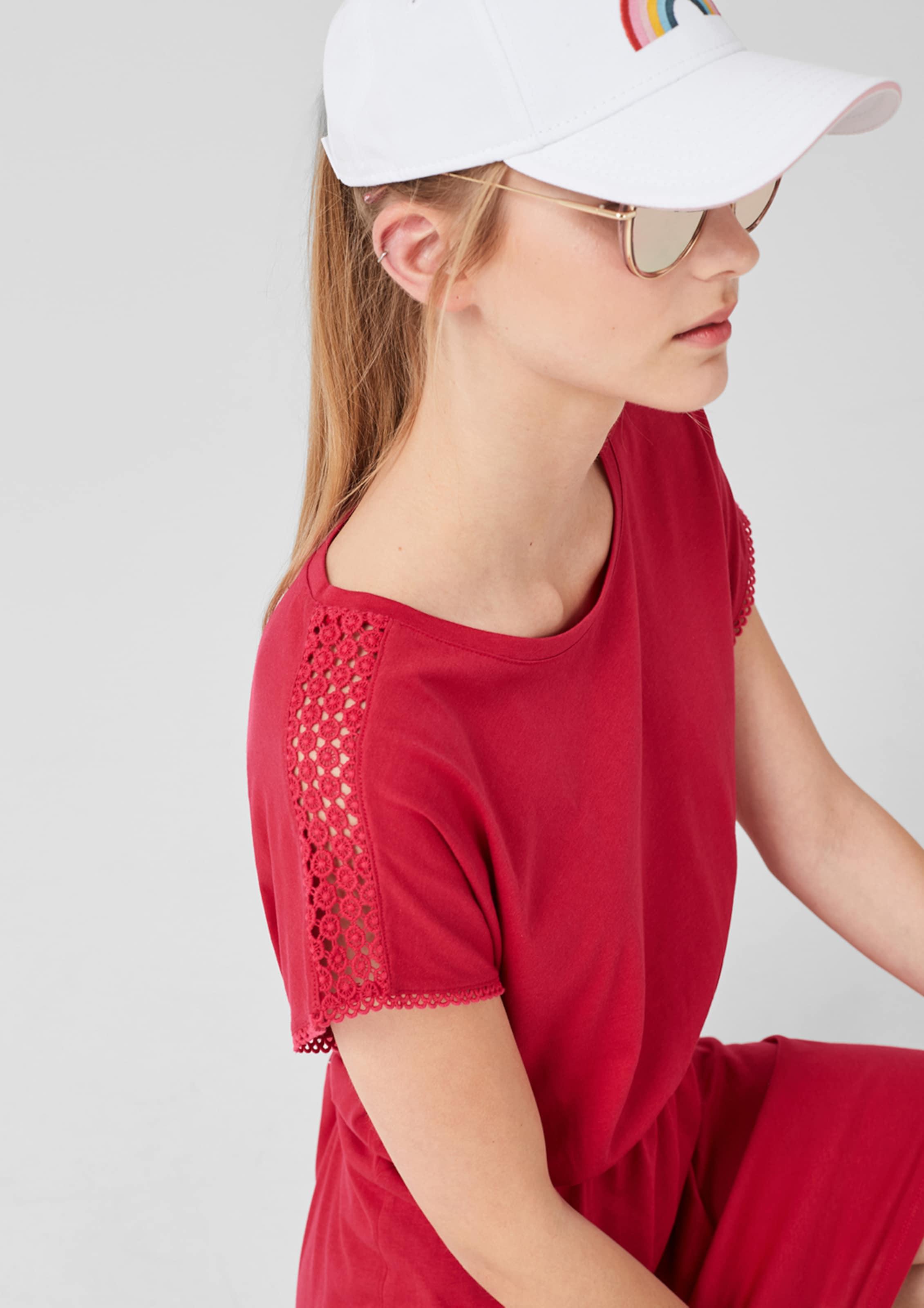 Hellrot Red In S oliver Jerseykleid Label OPXZwlikuT