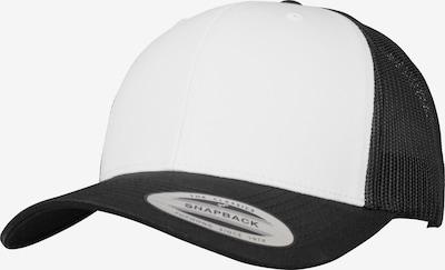 Flexfit Retro Trucker Cap in schwarz / weiß, Produktansicht