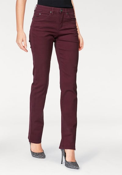 ARIZONA Comfort-fit-Jeans 'Gerade Form' in bordeaux, Produktansicht