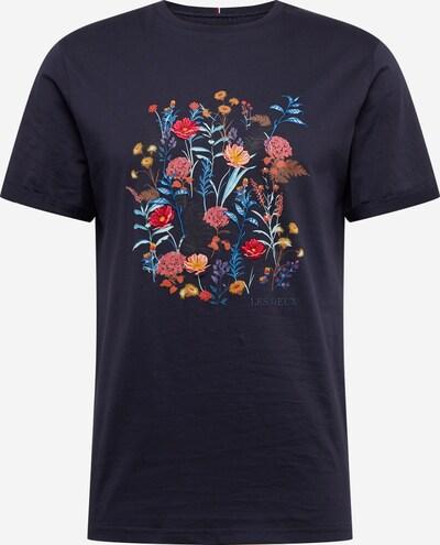 Les Deux Shirt 'Fleur D'été' in nachtblau, Produktansicht