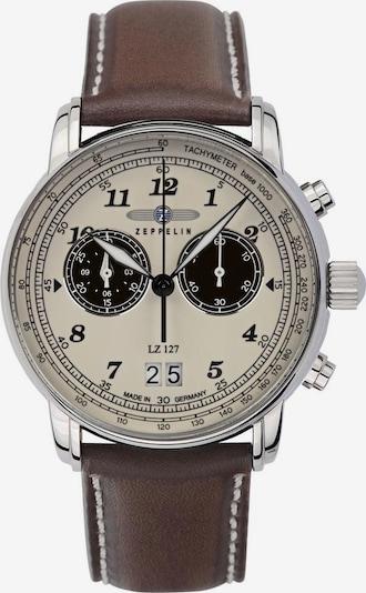 Zeppelin Uhr in beige / braun / silber, Produktansicht