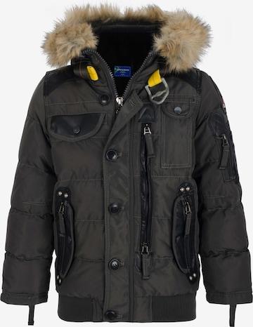 CIPO & BAXX Steppjacke mit praktischen Taschen in Grau