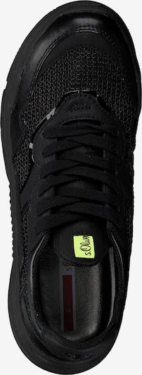 s.Oliver Sneakers laag in de kleur Zwart: Bovenaanzicht