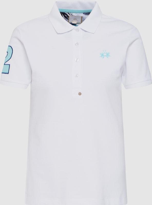 La Martina Shirt Shirt Shirt 'WOMAN POLO PIQUET STRETCH' in weiß  Großer Rabatt ce8690