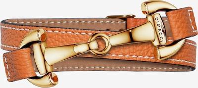 Dimacci Armband 'Alba' in gold / dunkelorange / naturweiß, Produktansicht