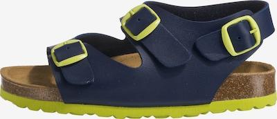 LICO Pantoletten 'BIOLINE MASTER' in blau / gelb, Produktansicht
