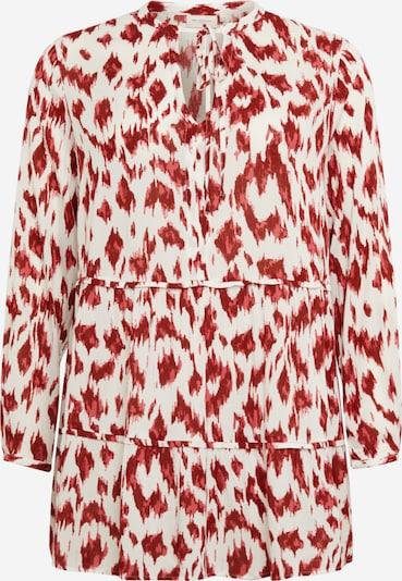 ONLY Carmakoma Robe-chemise 'WILD' en grenadine / rouge foncé / blanc, Vue avec produit