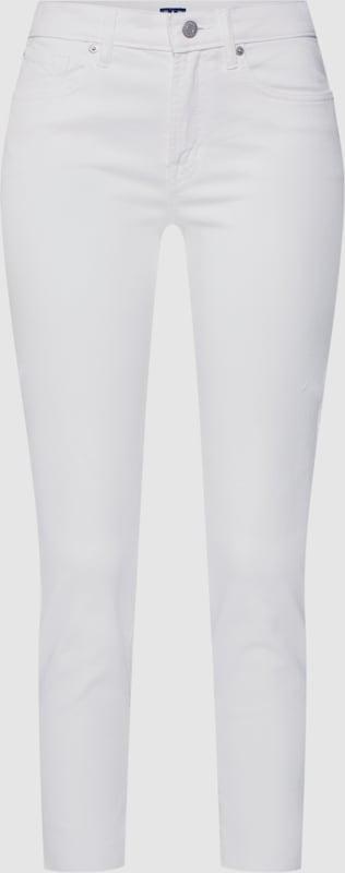 GAP Jeans 'SKINNY ANKLE OPTIC Weiß' in weiß  Freizeit, schlank, schlank