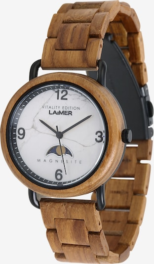 LAiMER Herren Armbanduhr Holzuhr 'Gerlinde' in ocker, Produktansicht