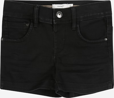 NAME IT Shorts 'NMFSALLI DNMCILLE 7159 SHORTS CAMP' in black denim: Frontalansicht