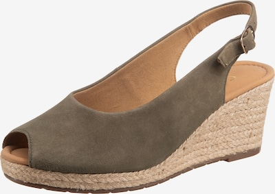 GABOR Sandale in khaki, Produktansicht