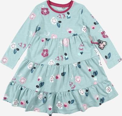 SIGIKID Kleid in pastellblau / dunkelblau / rosa / himbeer / weiß, Produktansicht