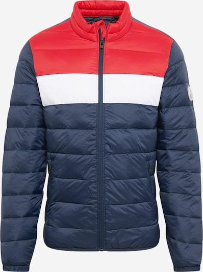 JACK & JONES Winterjas in de kleur Blauw / Rood / Wit, Productweergave