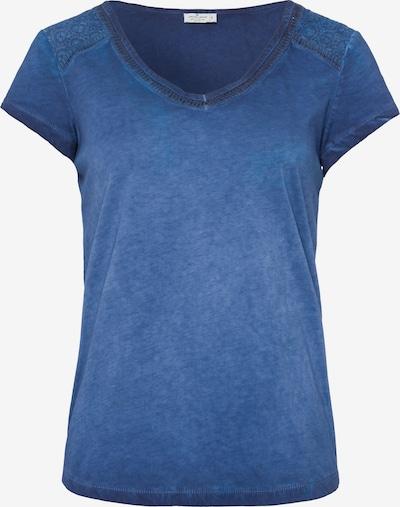 Cross Jeans Shirt in blau: Frontalansicht