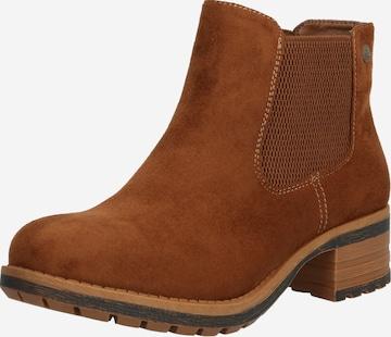 Chelsea Boots RIEKER en marron