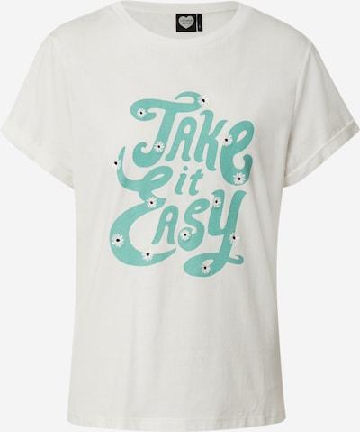 CATWALK JUNKIE Shirt 'TS TAKING IT EASY' in weiß, Produktansicht