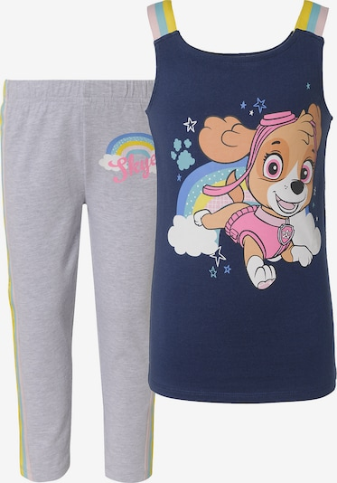 PAW Patrol Set Top + Leggings in navy / graumeliert / mischfarben, Produktansicht