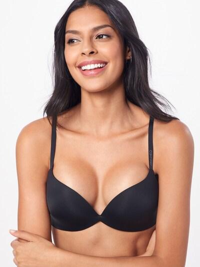 Calvin Klein Underwear BH 'PUSH UP PLUNGE' in schwarz, Modelansicht