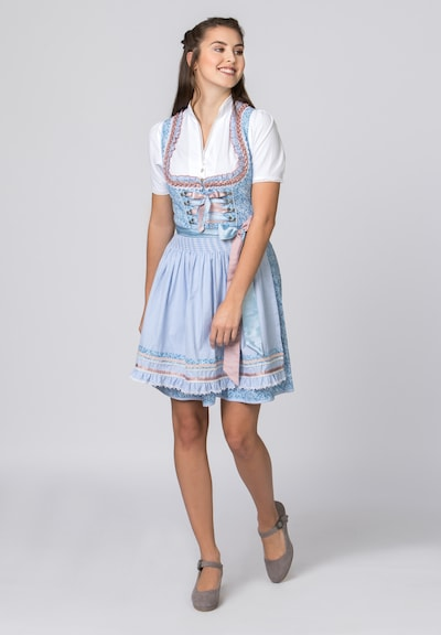 STOCKERPOINT Dirndl 'Esma' in blau / rosa, Modelansicht