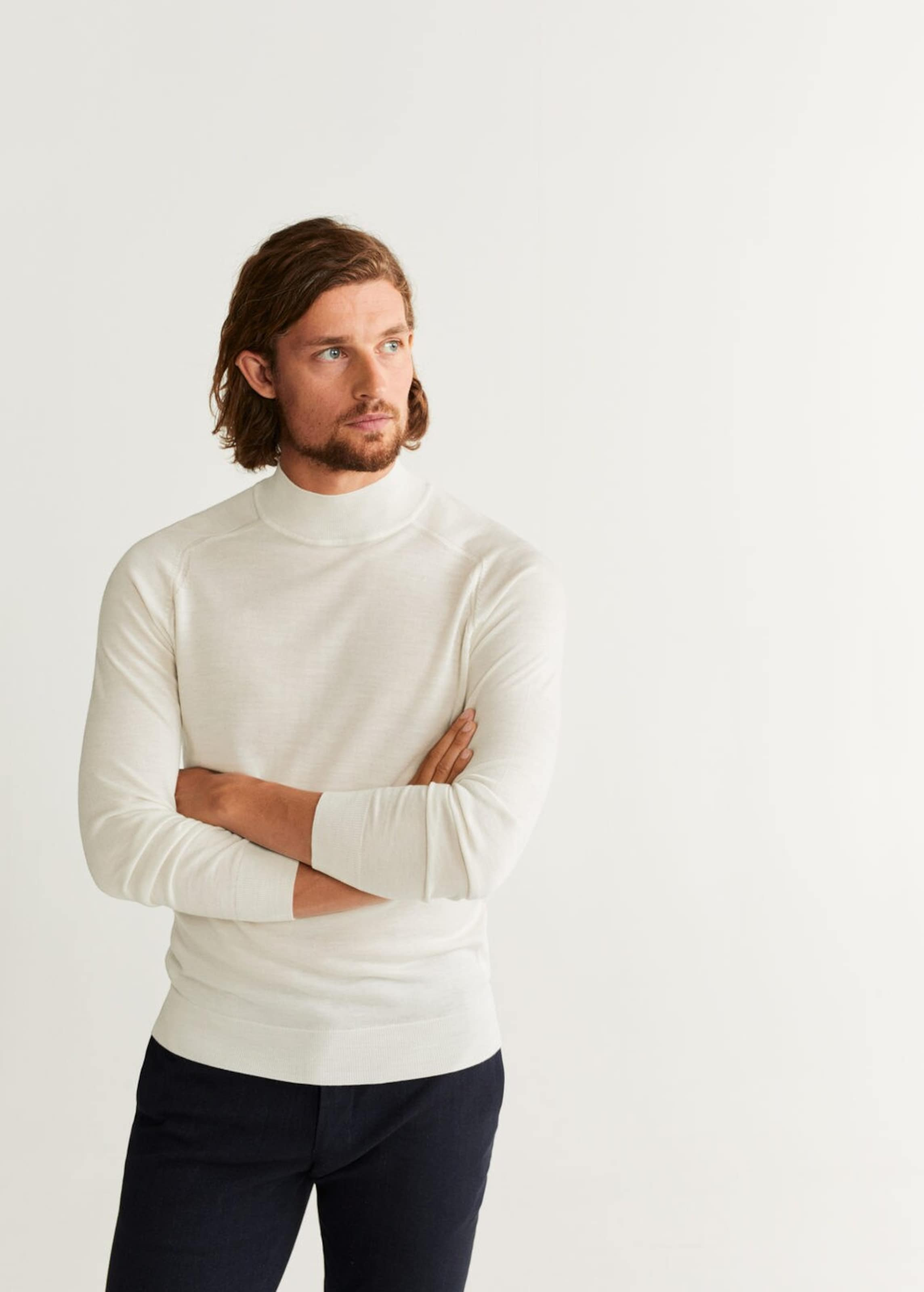 Man Pullover In 'willyp' Weißmeliert Mango eEHY9D2bWI
