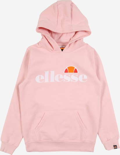 ELLESSE Hoodie 'Isoble' in orange / rosa / rot / weiß, Produktansicht
