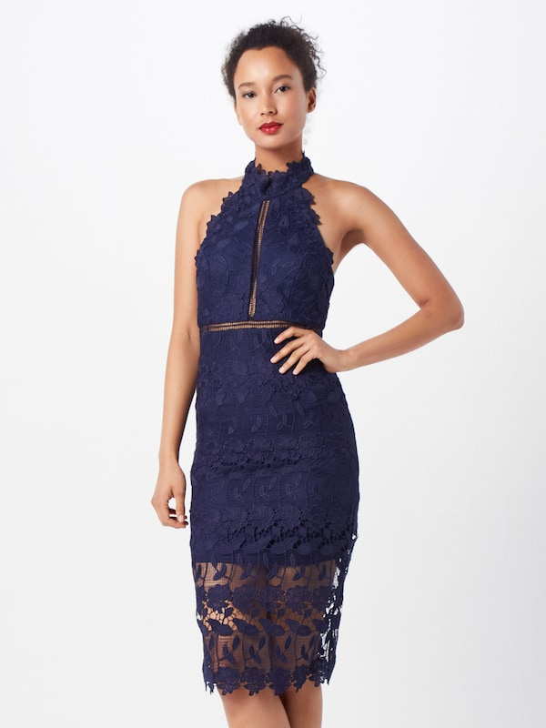 Bardot 'NONI HALTER DRESS' in navy, Modelansicht