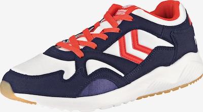 Hummel Sneaker 'Edmonton' in dunkellila / orangerot / weiß, Produktansicht