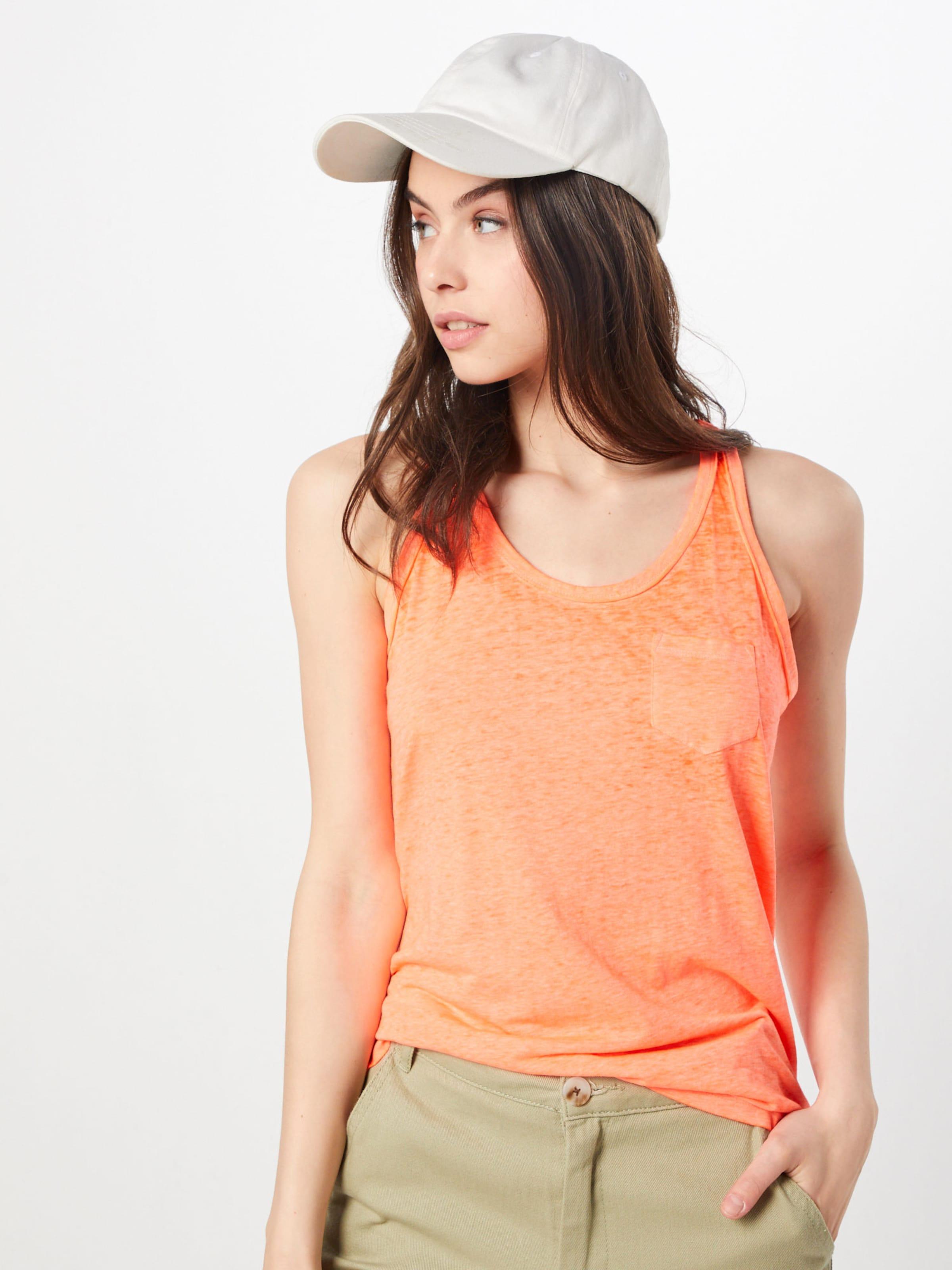 Superdry Vest' En Haut 'burnout Pocket Orange R4A35jLq