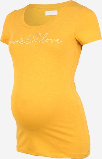 Tricou 'LELISE' MAMALICIOUS pe galben / alb: Privire frontală