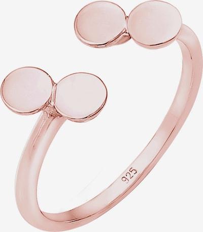 ELLI Ring 'Geo' in rosegold, Produktansicht