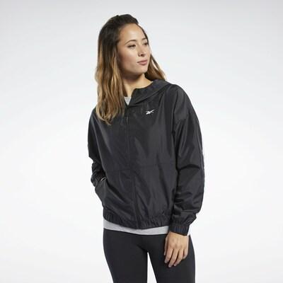 REEBOK Sportjas in de kleur Zwart: Vooraanzicht