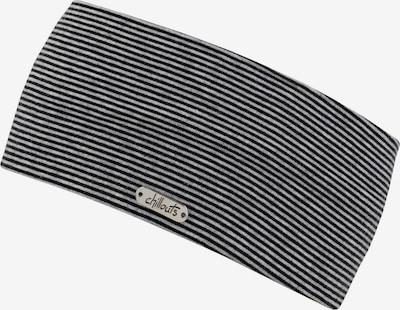 chillouts Stirnband 'Farum' in grau / schwarz, Produktansicht