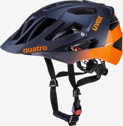 UVEX Fahrradhelm 'Quatro' in dunkelblau / orange, Produktansicht