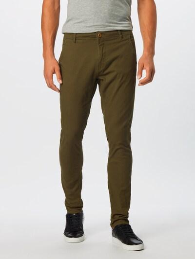 BLEND Pantalon chino en kaki, Vue avec modèle