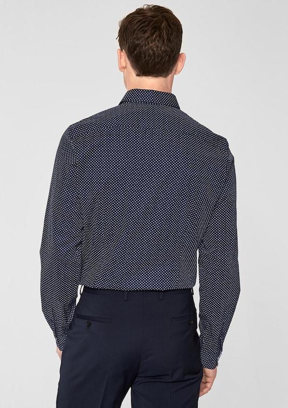s.Oliver BLACK LABEL Modern Fit: Hemd mit Minimalmuster