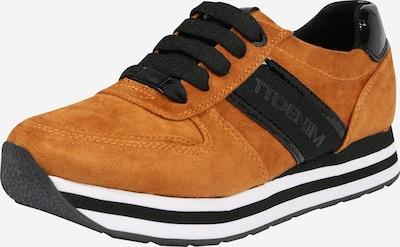 TOM TAILOR Sneaker in cognac / schwarz, Produktansicht