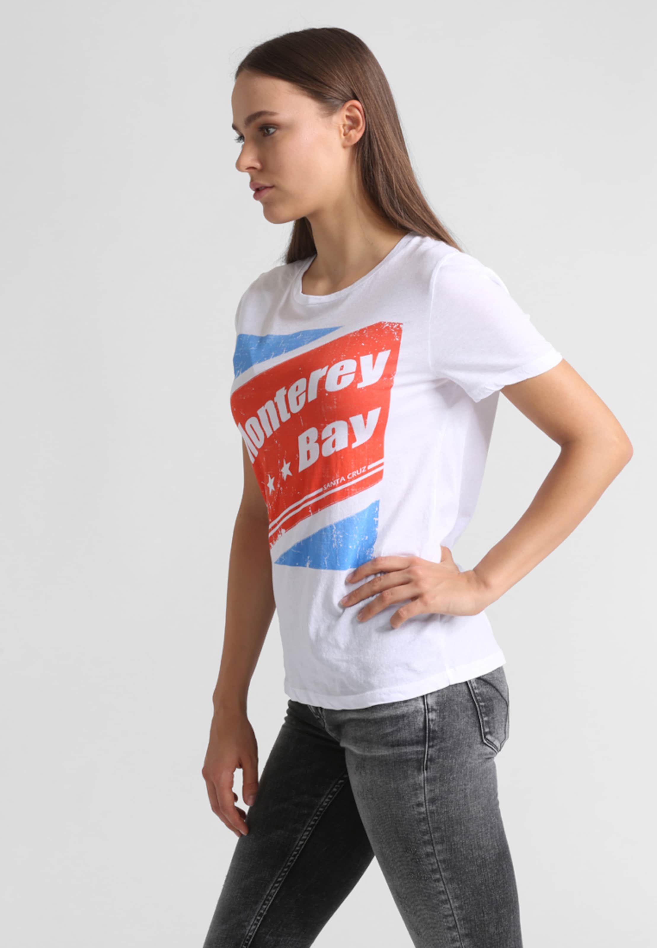 In Retro Set shirt Weiß BlauRot print Mit T DH9EYW2I