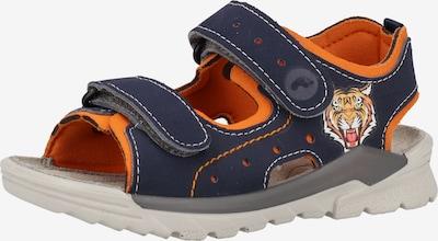 RICOSTA Sandalen in kobaltblau / orange, Produktansicht
