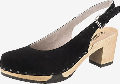 SOFTCLOX Klassische Sandaletten in schwarz, Produktansicht