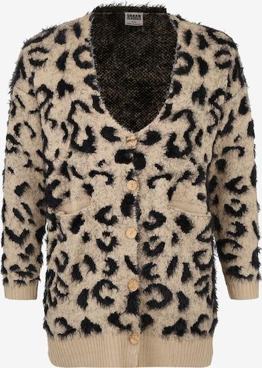 Urban Classics Curvy Kardigan 'Ladies Leo' w kolorze beżowy / czarnym, Podgląd produktu
