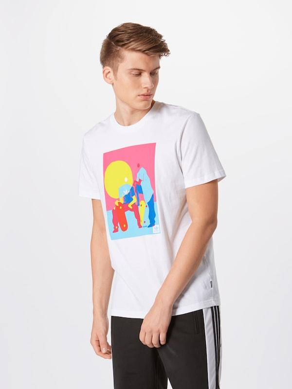 Mélange shirt 'burrage' De Adidas Originals T CouleursBlanc En WD2EH9I